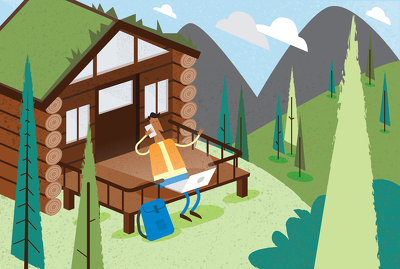 Create a spot illustration to accompany your blog posts