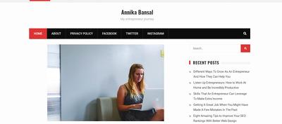 Place a Guest Post on AnnikaBansal.com DA92 with Dofollow