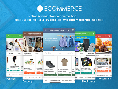 Develop Native Android Woocommerce Store mobile app and Website