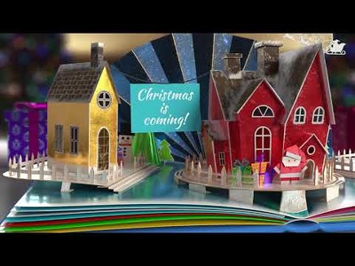 create this amazing popup book style christmas video
