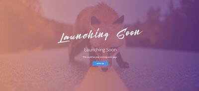 Devlope Coming Soon Page  Landing Page   Homepage Design