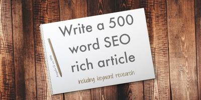 Write a 500 word SEO-rich post