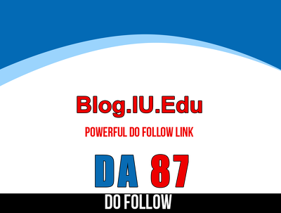 Publish post on Indiana University. iu.edu - DA 87 - Dofollow