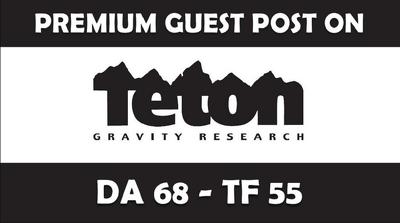 Publish Guest Post on TetonGravity/com DA68, PA74 with dofollow