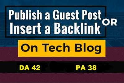 Guest Post On Tech Websites Techlogitic.com DA 42