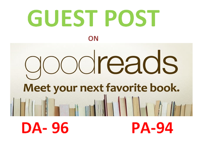 Publish A Guest Post on GoodReads.com