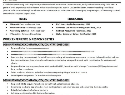 Get a customized Professional One-Page C.V. / Resume