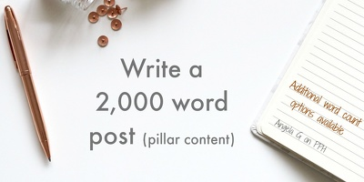 Write a pillar content article of 2,000 words