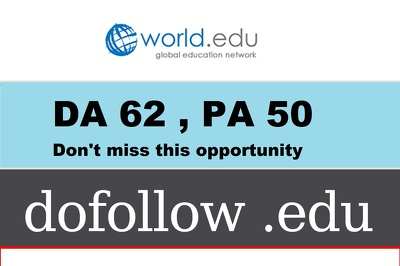 publish guest post on world.edu - DA 62 - Dofollow Edu Link