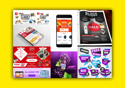 Catchy Promotional Advertising Design for Web and Print