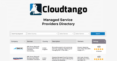 Provide 4000 cloud providers records from CloudTango