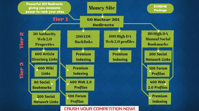 Rank your Website with Multi Tiered Link Building SEO Package