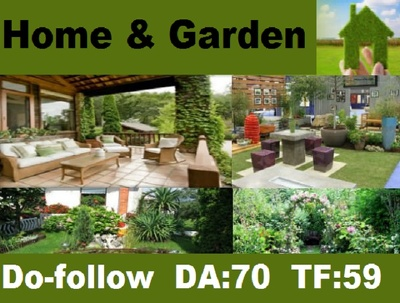 Publish Guest Post Home and Garden Niche Website Do-Follow DA 70