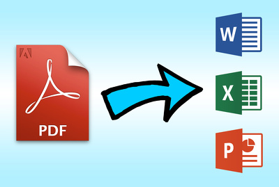 Convert PDF to word, excel, powerpoint 25 pages within 12 hours