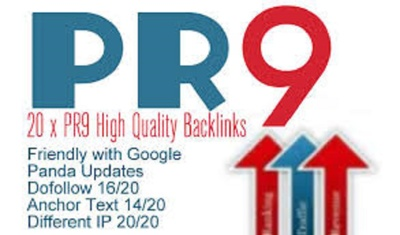 Create 30 real PR9 DOFOLLOW backlinks from high authority sites