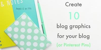 Design 10 blog graphics