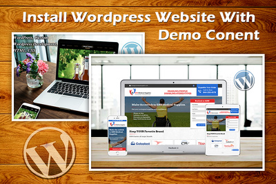 Install any WordPress theme with Demo Content