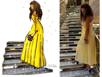 i will create a fashion illustration based on your real picture