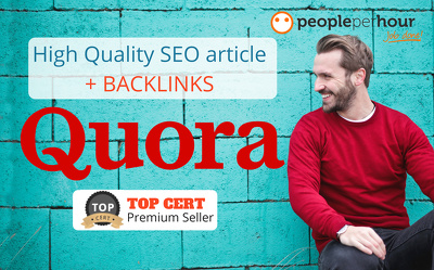 ★ Publish HQ SEO article + backlinks on Quora |DA-92| 500 words★