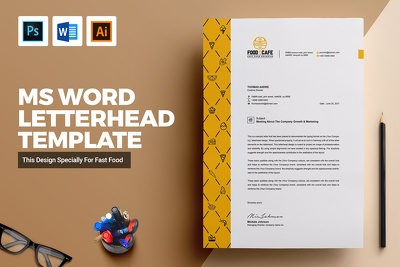 Design a clean, modern Letterhead + Free Ms word and Source file