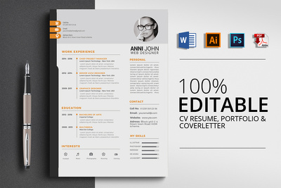 Design resume,cv, curriculum vitae,cv and cover letter for you