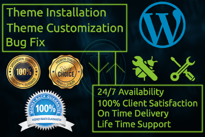 Do Any WordPress Customization, Redesign And Fix Wp Issue