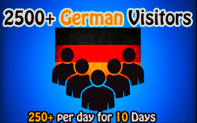 I Will Drive 2500 German Traffic For 10 Days From Social Sources