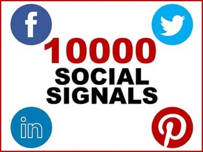 Build 10,000 PR9 Social Signals with backlink to any website.