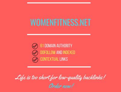 publish a guest post on Women Fitness womenfitness.net, DA 61