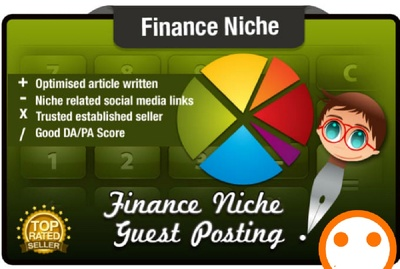 Publish 5 Guest Posts on Finance Niche Domains DoFollow DA 40+
