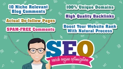 Do 10 Niche Relevant dofollow Blog Commenting on actuul pages