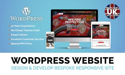 Design & Develop a 5 page wordpress website