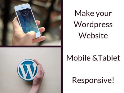 Make your Wordpress site Mobile responsive