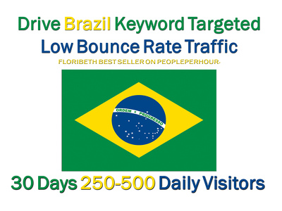 Drive Brazil Keyword Targeted Low Bounce Rate Traffic