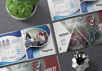 Design elegant professional flyer, brochure, leaflet, or catalog
