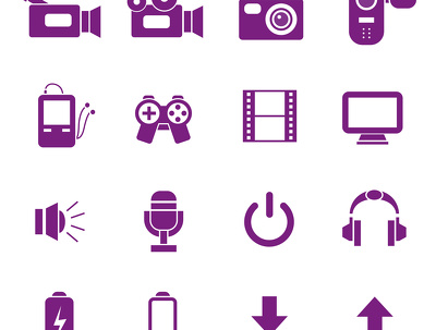 Create a set of 10 icons