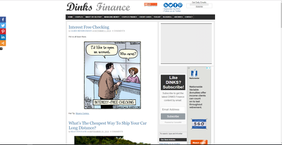 Publish a guest poston Dinks Finance DinksFinance.com DA51, PA59