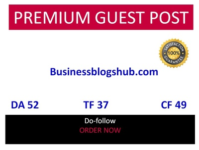 Guest post in Businessblogshub Businessblogshub.com DA 52