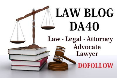 Publish Guest Post on DA40 Law - Legal Niche Blog