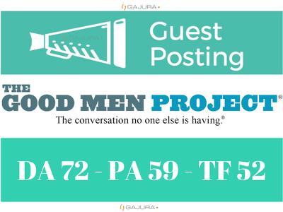 Publish a Guest Post on Goodmenproject, Goodmenproject.com DA 72
