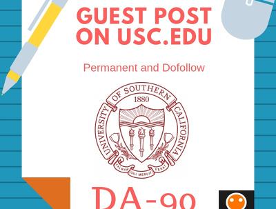 Do a dofollow Guest Post on USC.edu DA90