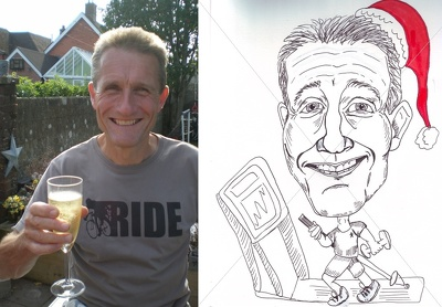 Draw a caricature of a colleague, friend or family member