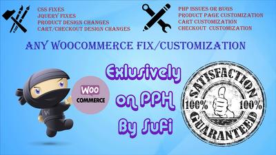 Fix and customize wordpress shop or woocommerce