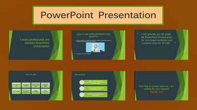 Create professional and editable PowerPoint presentation