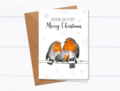 Design a bespokes illustrated christmas card
