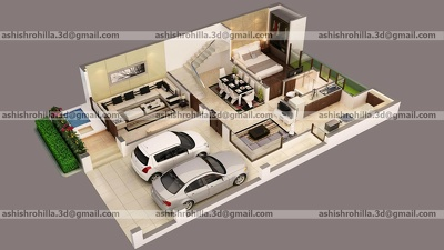 Convert 2D plans into 3D design (one room interior)