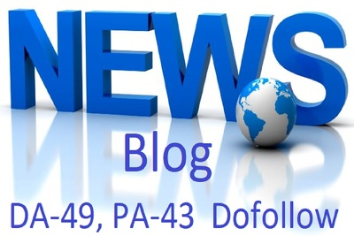 Write & Publish Guest Post On DA-49 Dofollow News Site