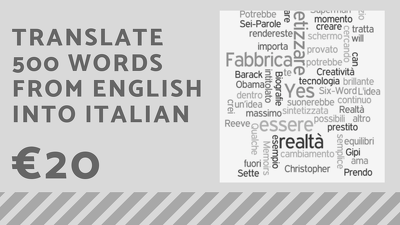 Translate 500 words from English to Italian