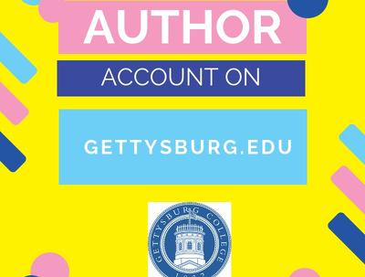 Create an author account on gettysburg.edu High DA edu website