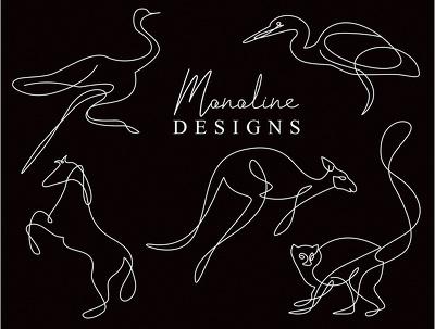Do monoline/single line outline logo